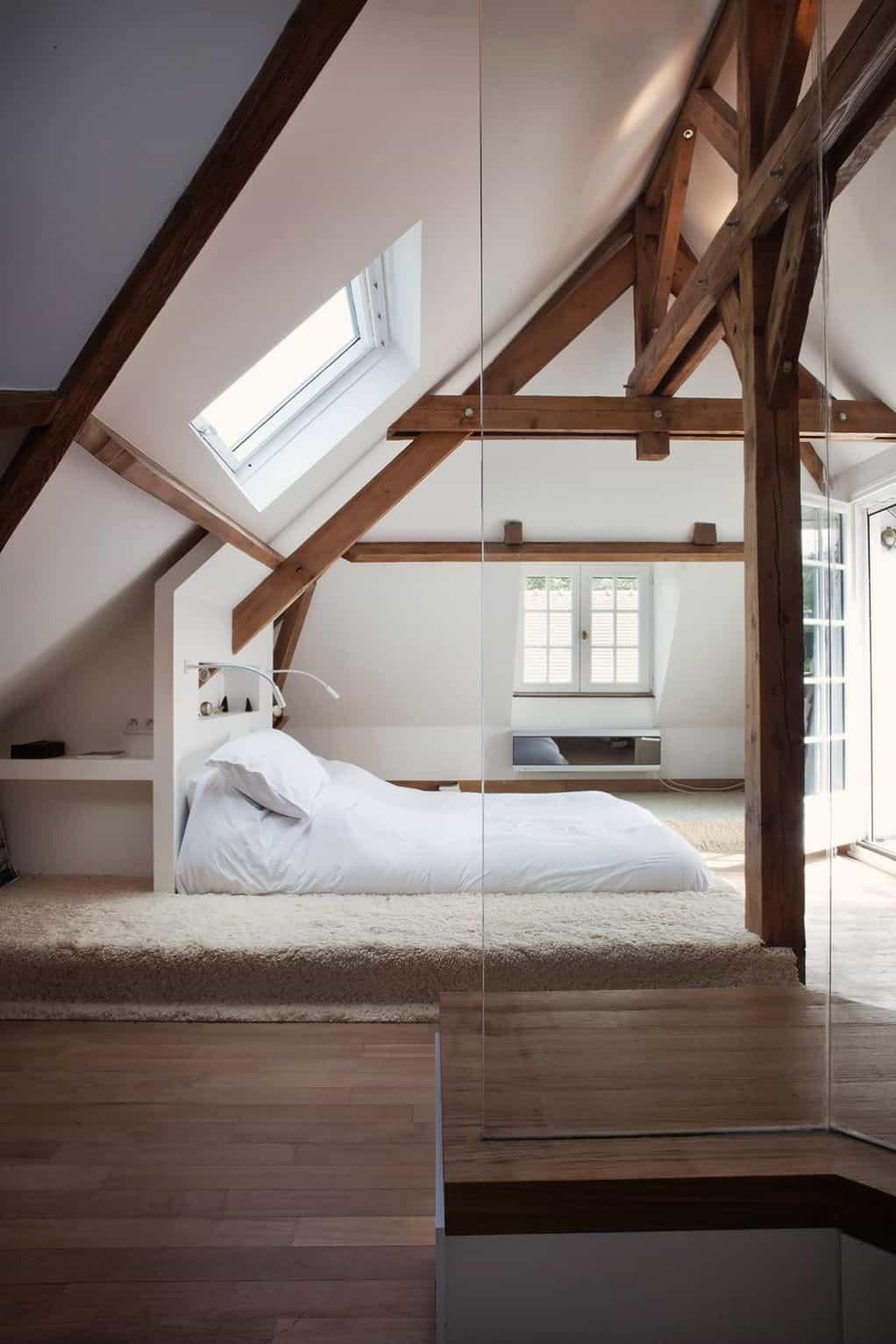 Plush Textural Fur Platform Bed
