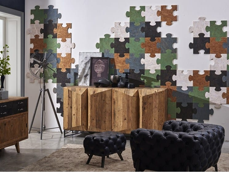 Puzzled wall covering by Dialma Brown