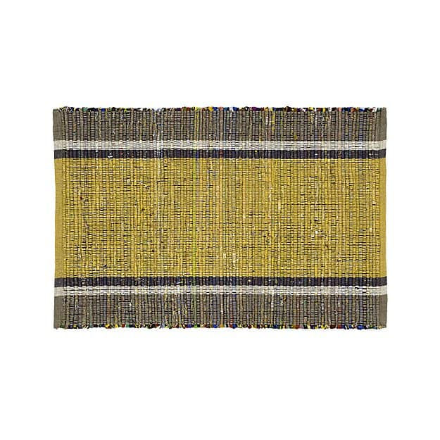 Quentin Yellow Coton Rug from Create and Barrel