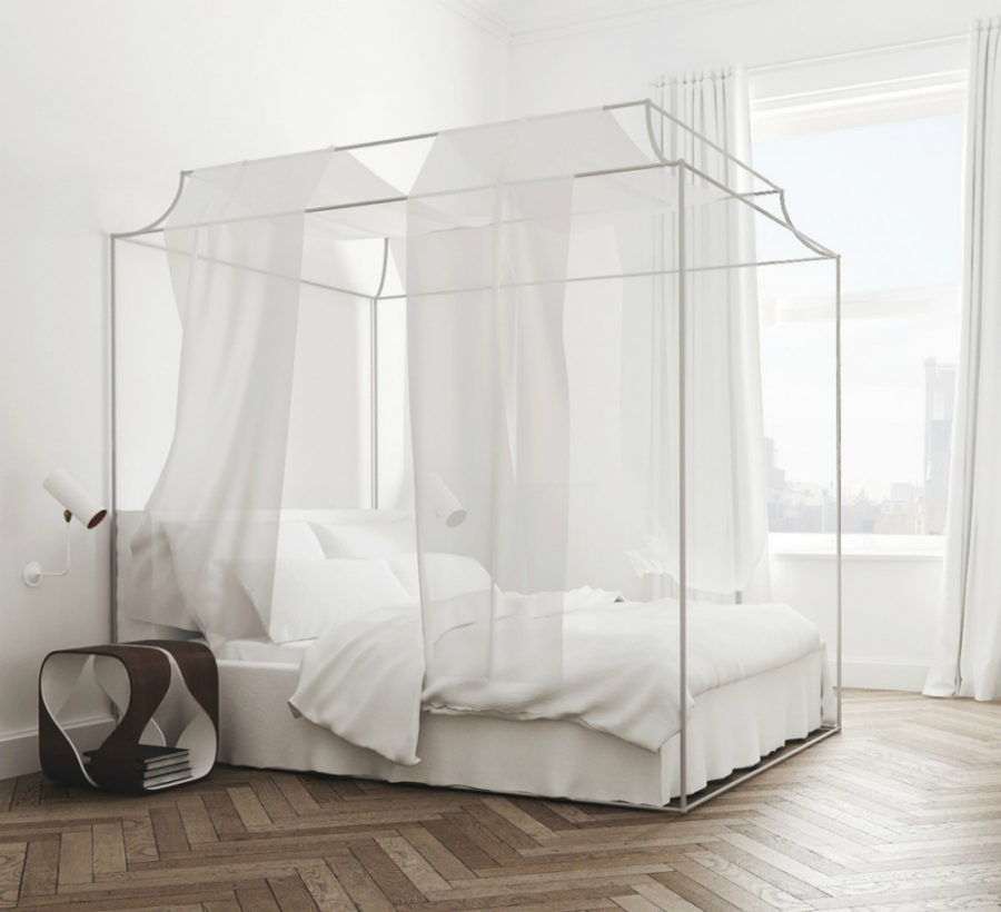 View in gallery Romantic baldachin bed ...