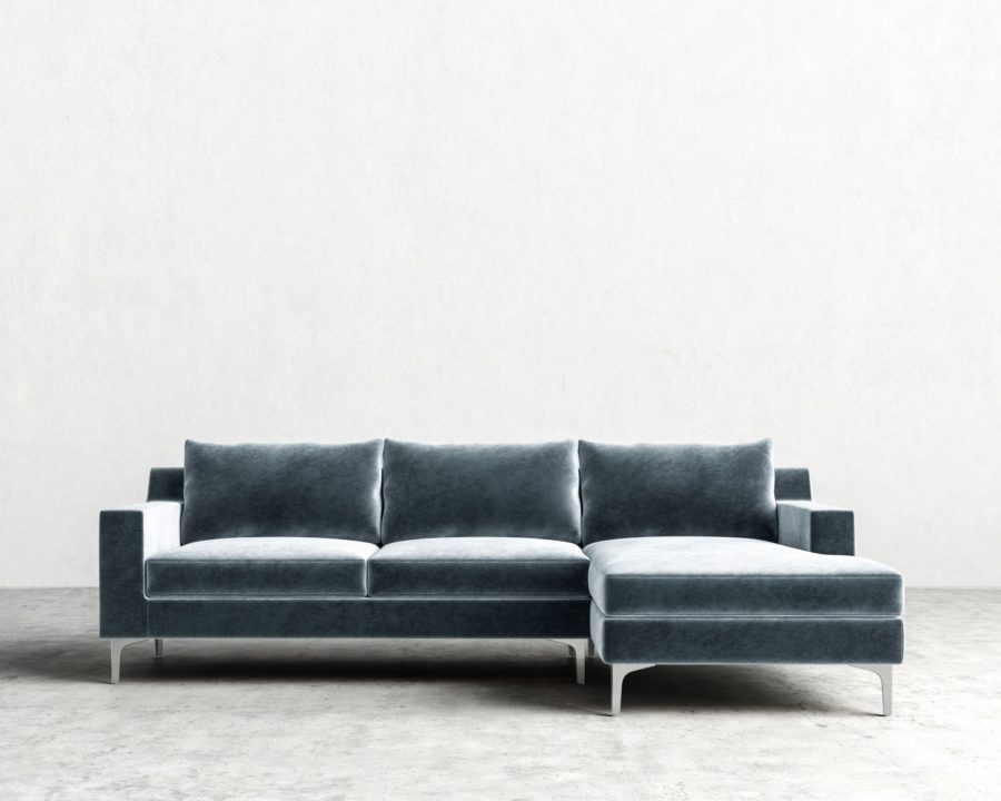 SophiaSectional vintage velvet solstice 900x720 20 Velvet Couches That Add Sophistication and Eclectiscism