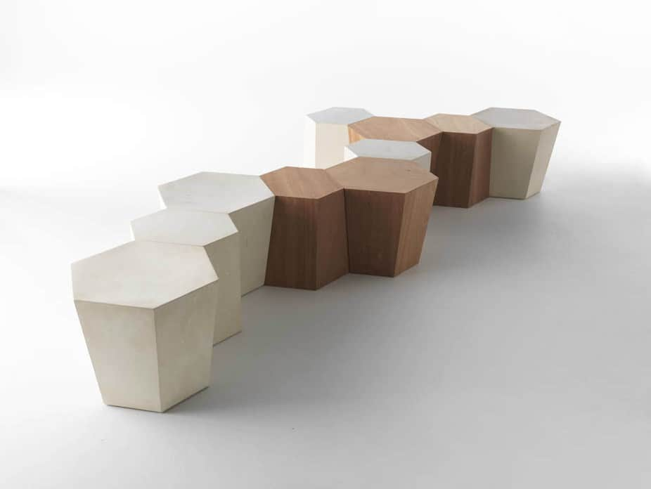 Stool-side table Hexagon by Horm.it
