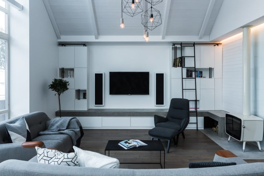 stylish interior design house on stilts in lithuanian forest has the most stylish interiors
