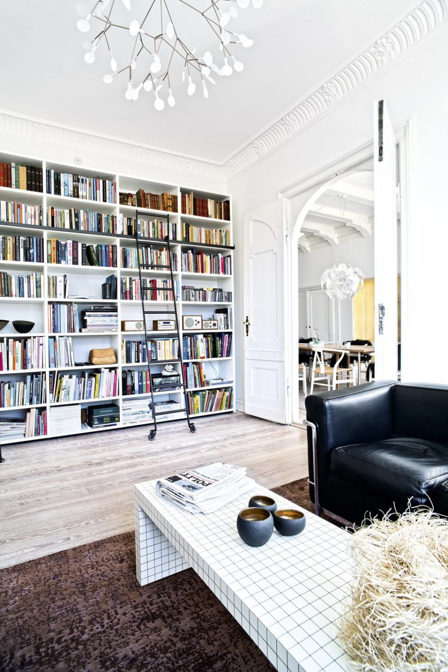 Modern Home Library Ideas