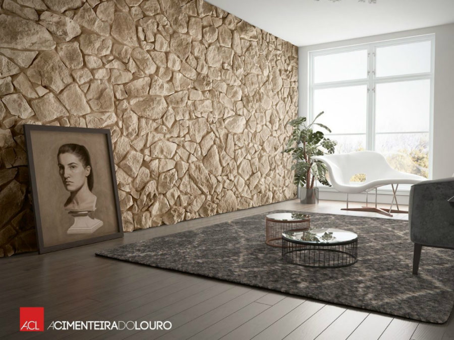 Most unusual wall coverings for every room in the house for Piedra natural para paredes interiores