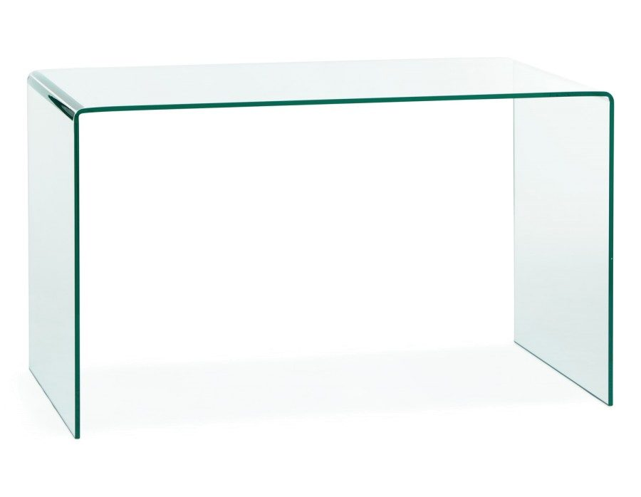 View In Gallery Viso Tempered Glass Desk From Struc