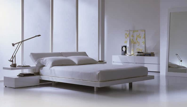 White Crisp Modern Bed These 40 Modern Beds Will Have You Daydreaming of Bedtime