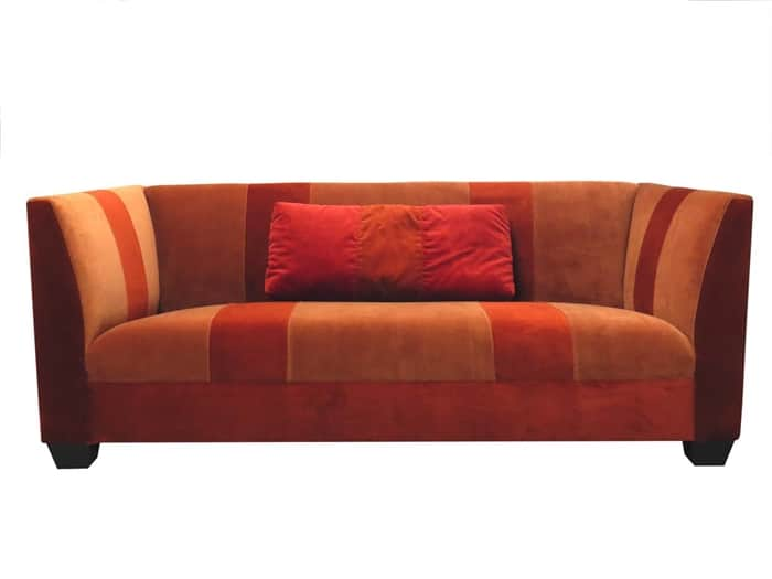 leo orange and red sofa from madera