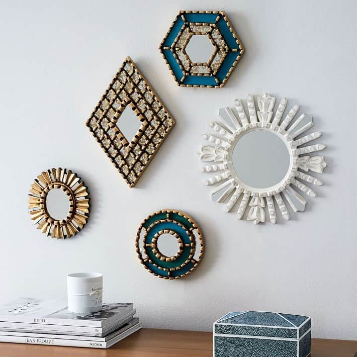 Create a gallery wall with mirrors