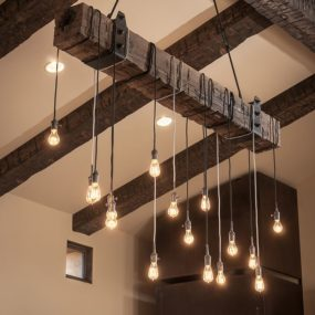 Rustic Beam Pendent Light with Edison Light Bulb 285x285 5 Unique Lamp Designs You Should Consider for Your next Remodel