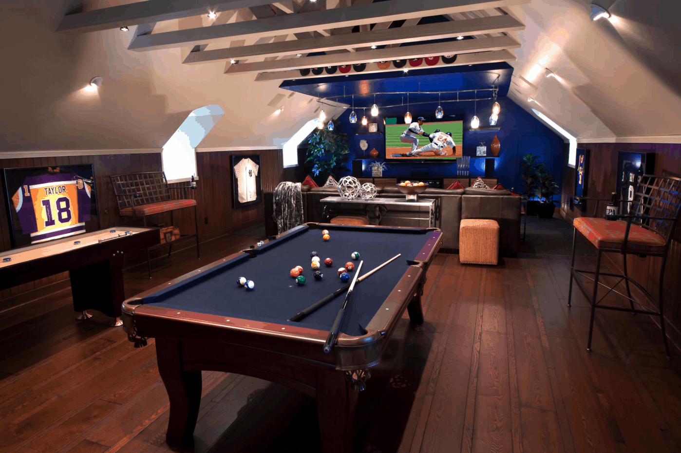 Man Cave Wizard 2018 : Garage made into man cave home desain