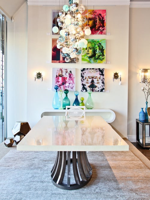Add this modern dining room table to your space