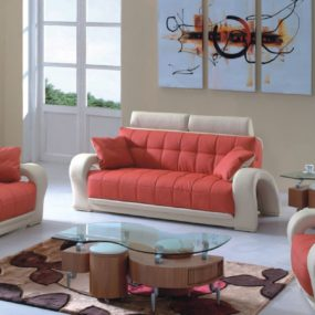 Contemporary sofa design in orange 285x285 Change the Entire Look of Your Living Room with These Modern Sofas