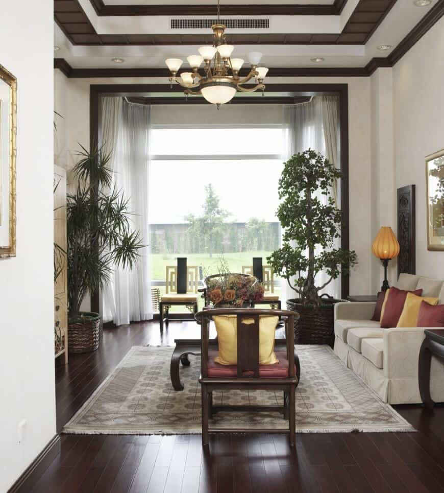 View In Gallery Dark Hardwood Floors Traditional Living Room 40 That Bring Life To All