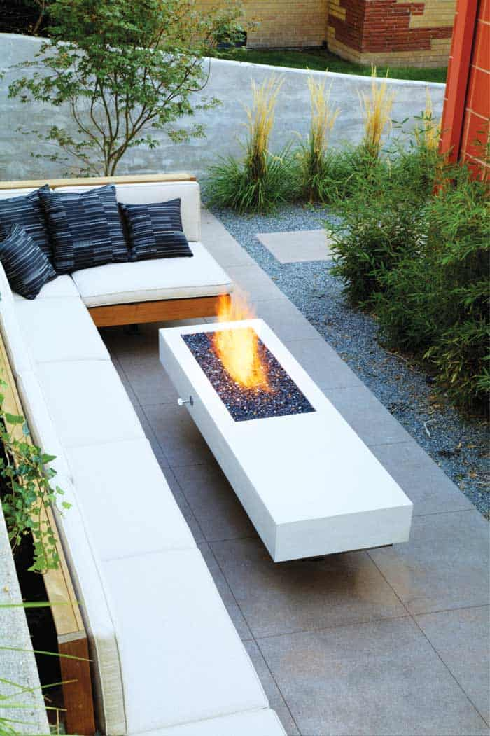 Elongated Modern Fire Pite 20 Modern Fire Pits That Will Ignite The Style Of Your Backyard