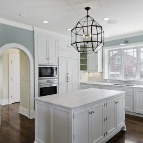 Grey and beige kitchen tones 285x285 Our Pick on the Best Kitchen Design Trends