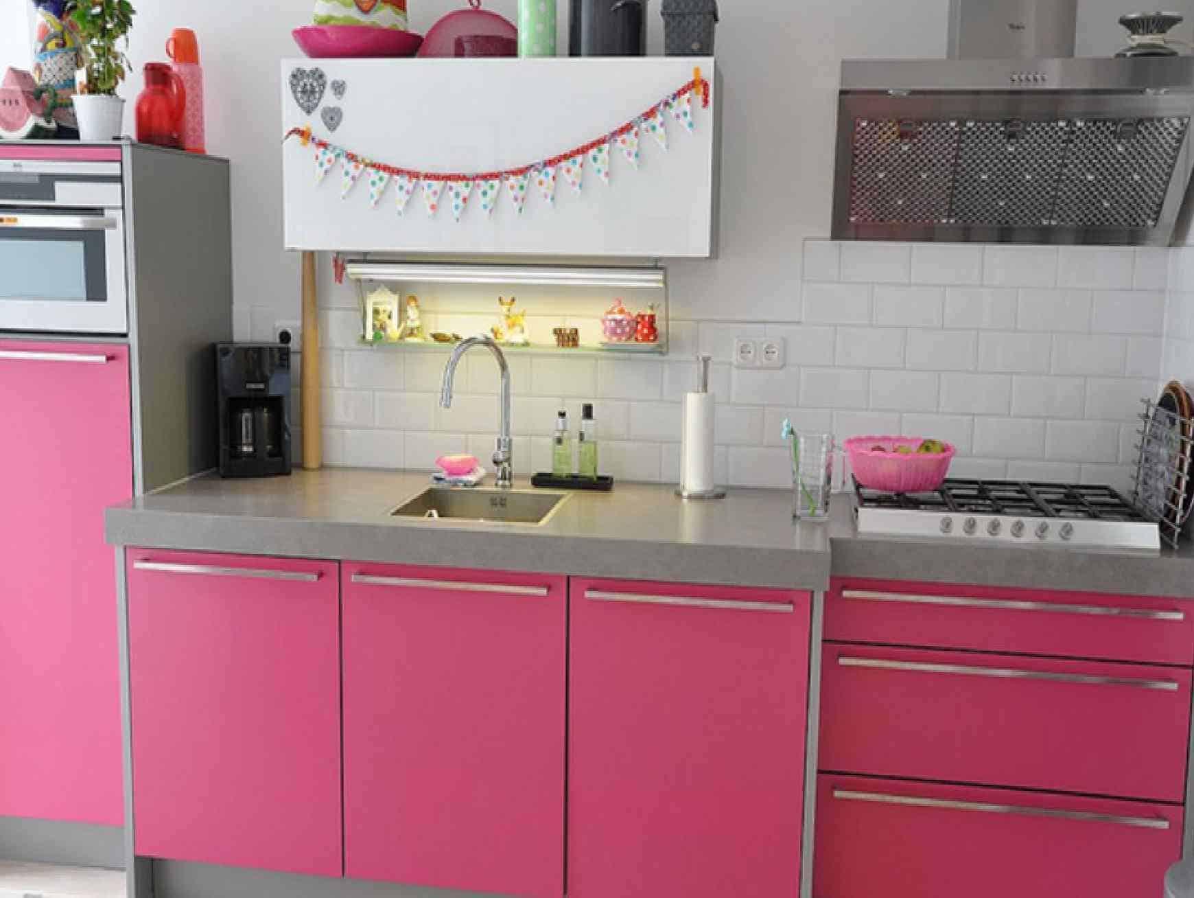Hot Pink Kitchen Cabinets