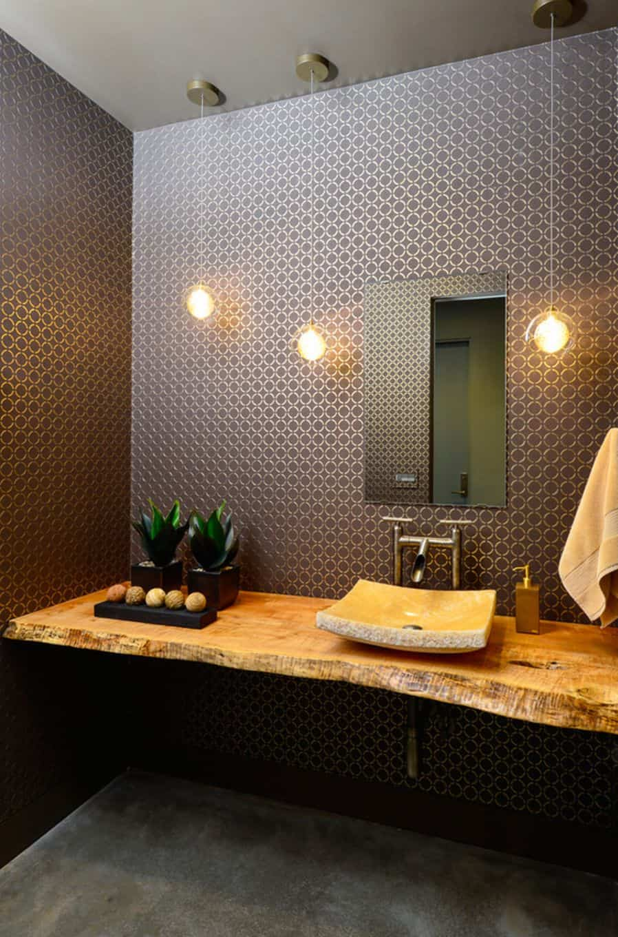 Increase available counter space with this small sink in a modern style.