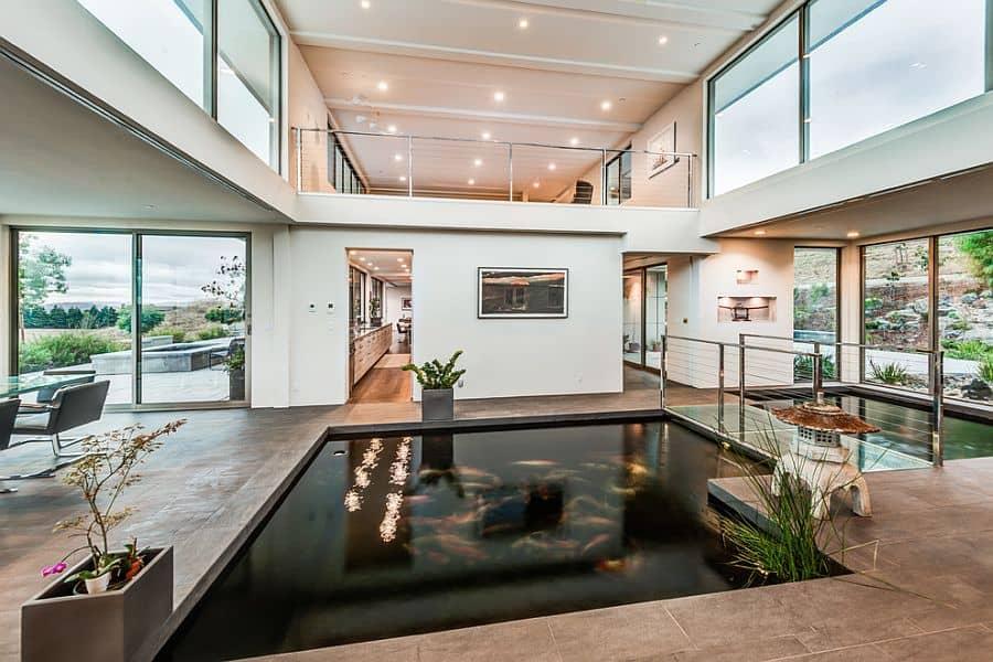 Large Indoor Koi Pond Minimalist House