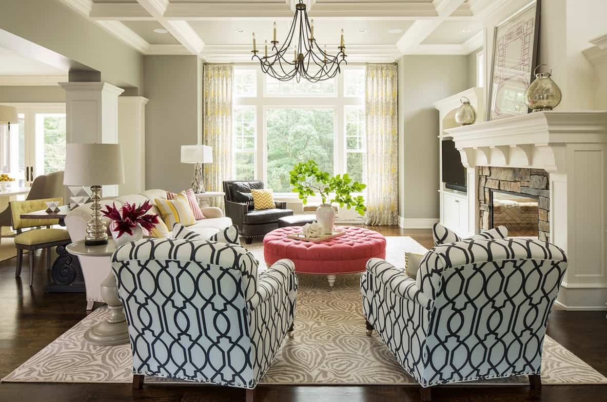 Large Prints on Traditional Furniture