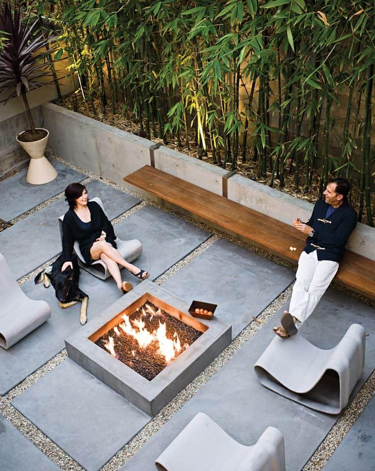 Low Modern Fire Pit