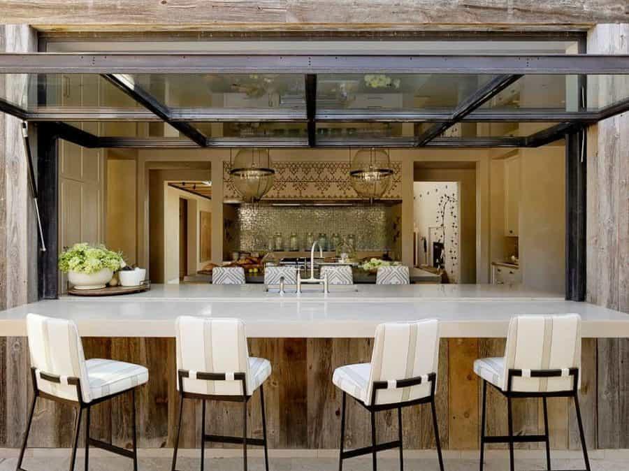 Luxurious and Feminine OUtdoor Bar Area