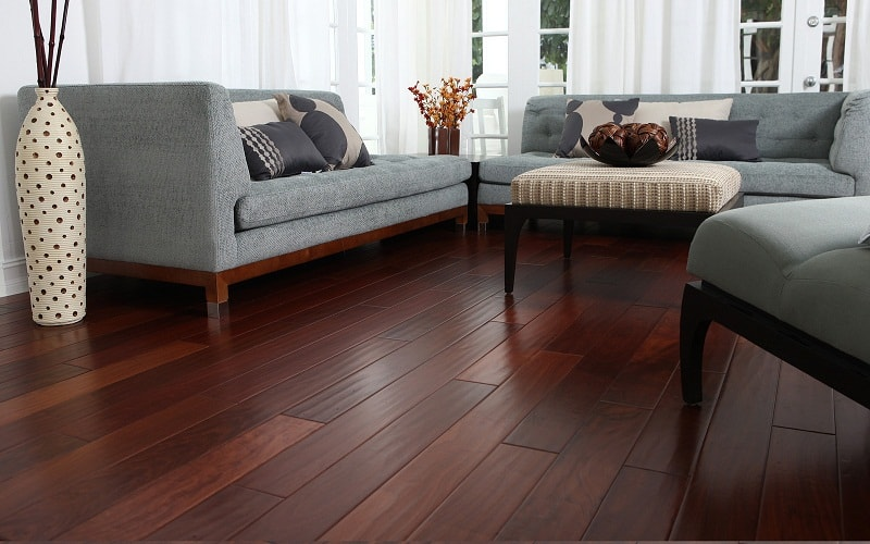View In Gallery. This Dark Hardwood Floor ...
