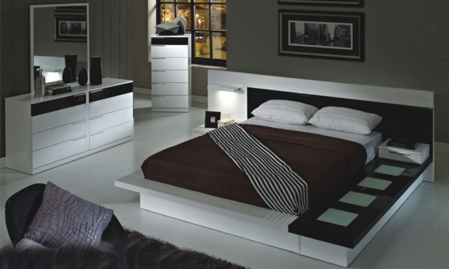 View In Gallery Modern White Platform Bed 900x540 On Trend Modern Furniture  To Add To Your Home