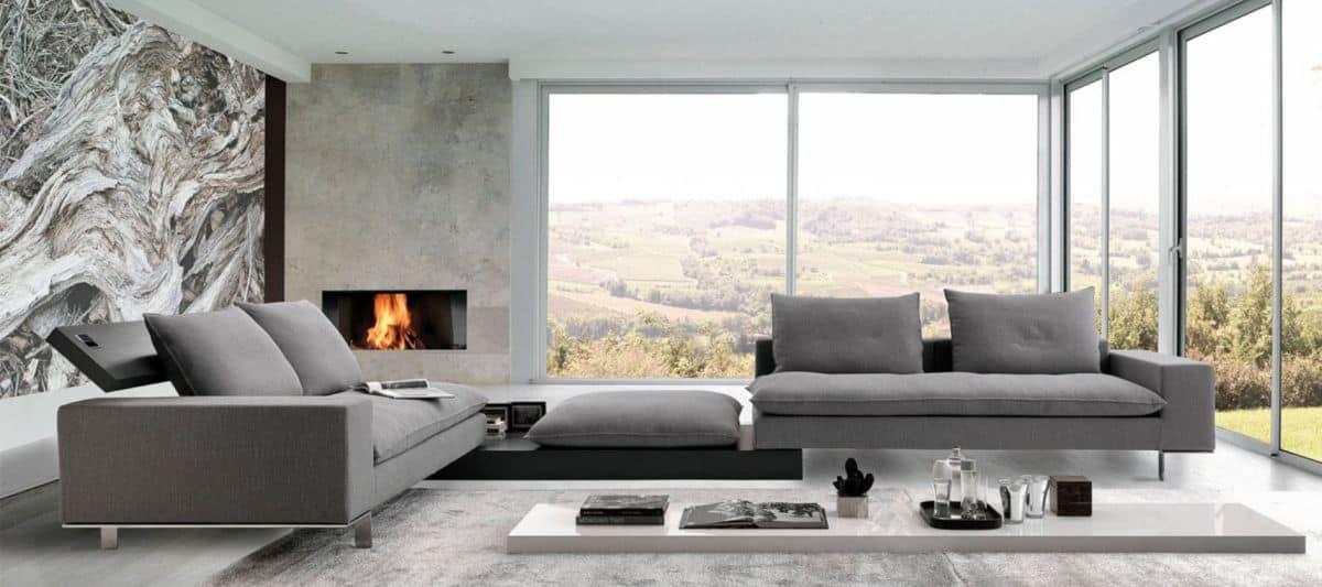 Neutral tone modern sofa design
