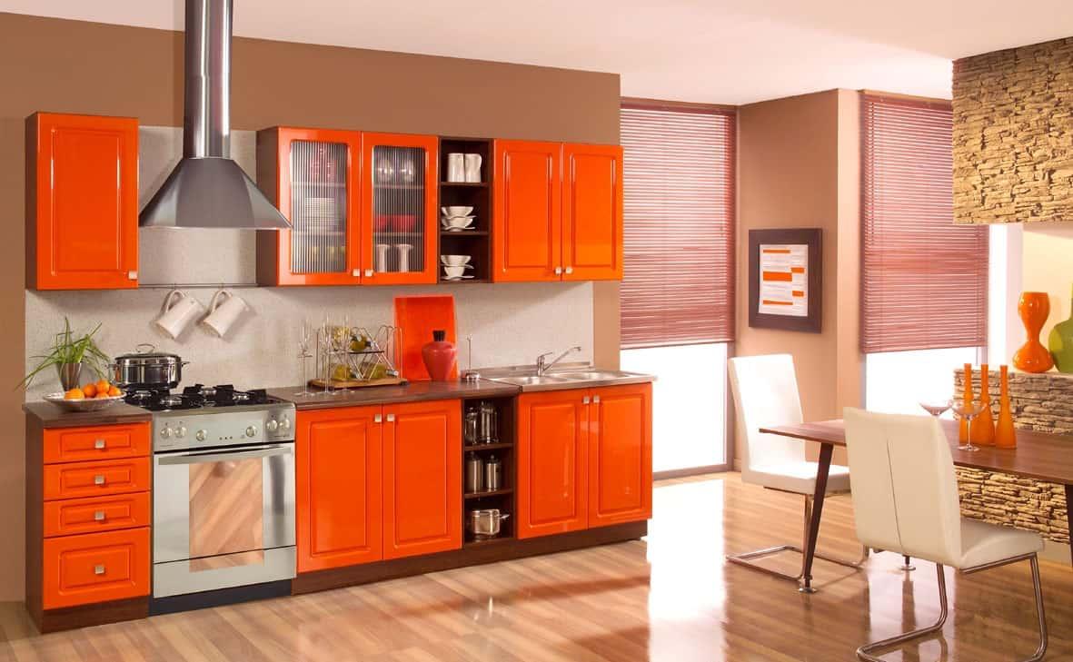 Orange Kitchen Cabinets