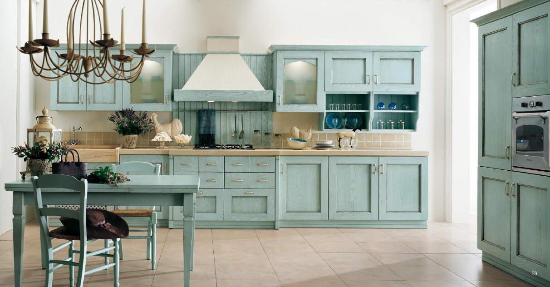 Rustic Robin's Egg Blue Cabinets