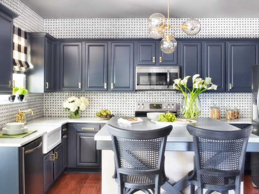 Beautiful Slate Blue Kitchen Cabinets Taste
