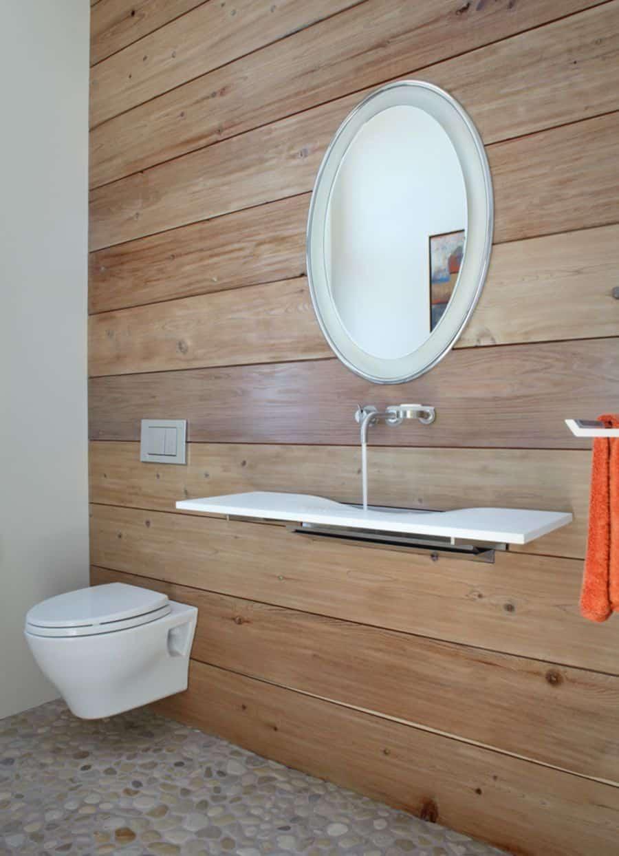 Slim bathroom sink