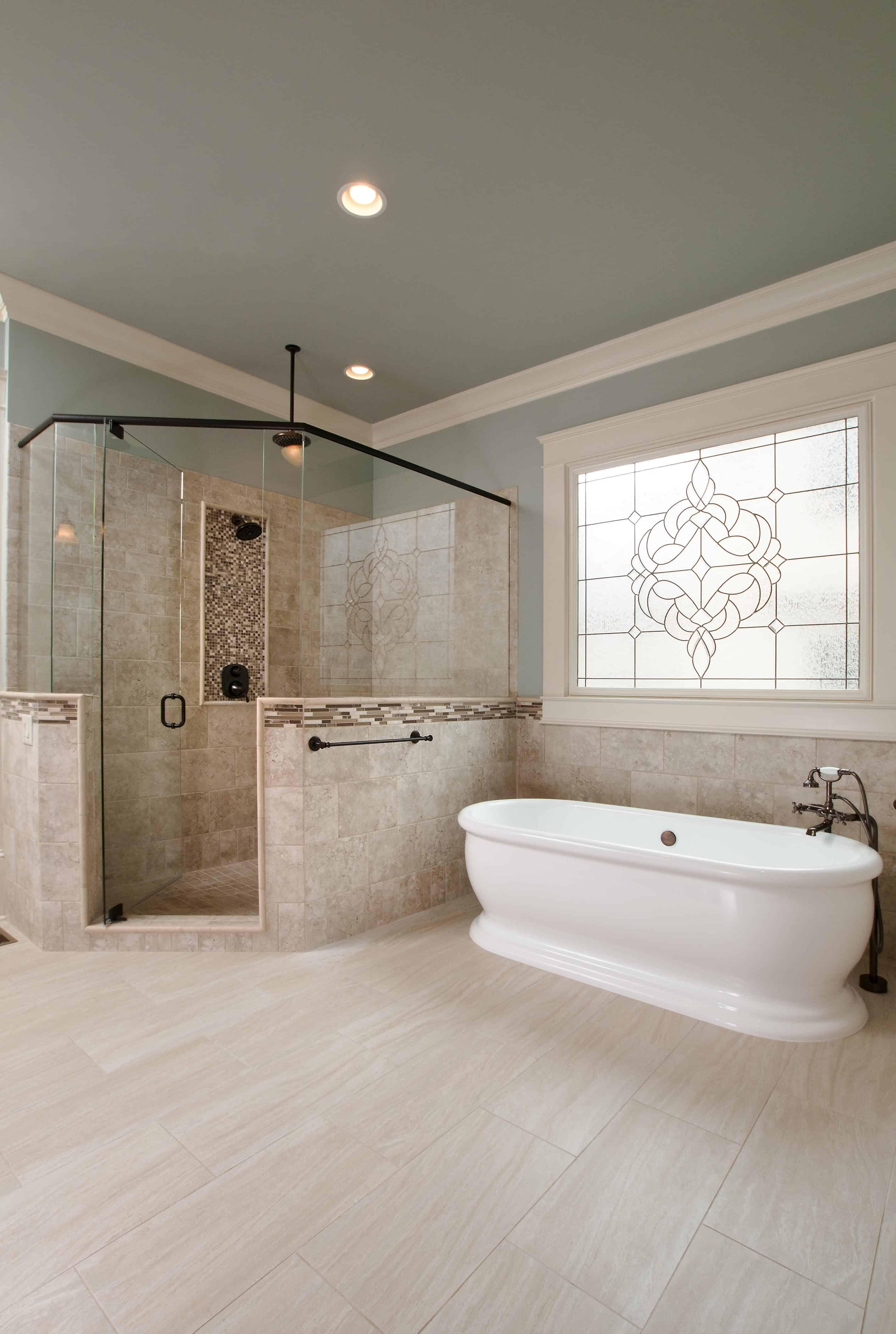 Soaking Bathtub in spacious bathroom