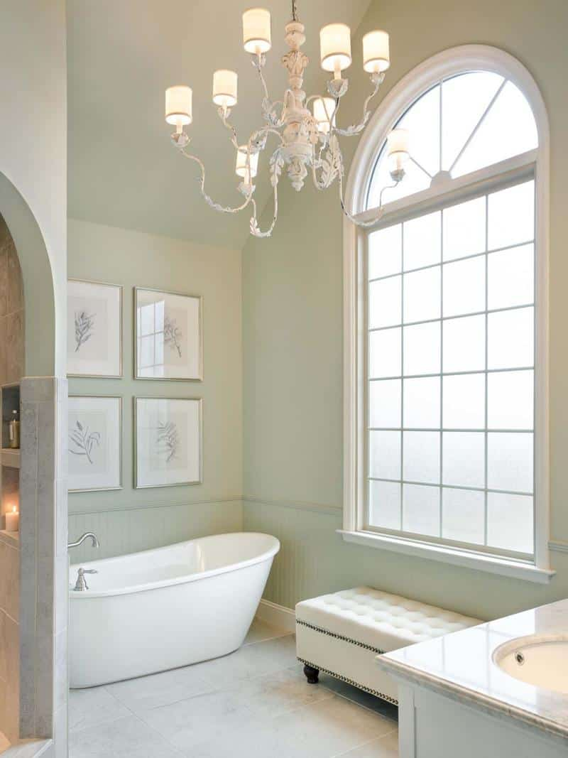 Soaking Tub in Victorian Inspired Bathroom