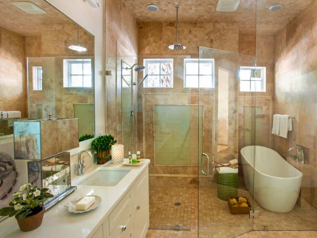 Soaking Tub inside shower