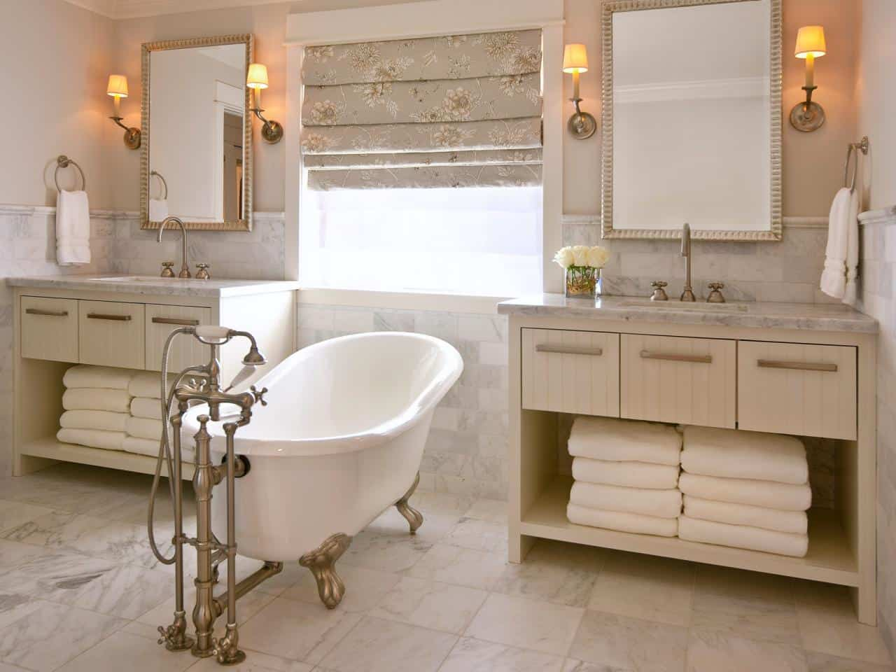 Soaking Tub with Antique Inspiration