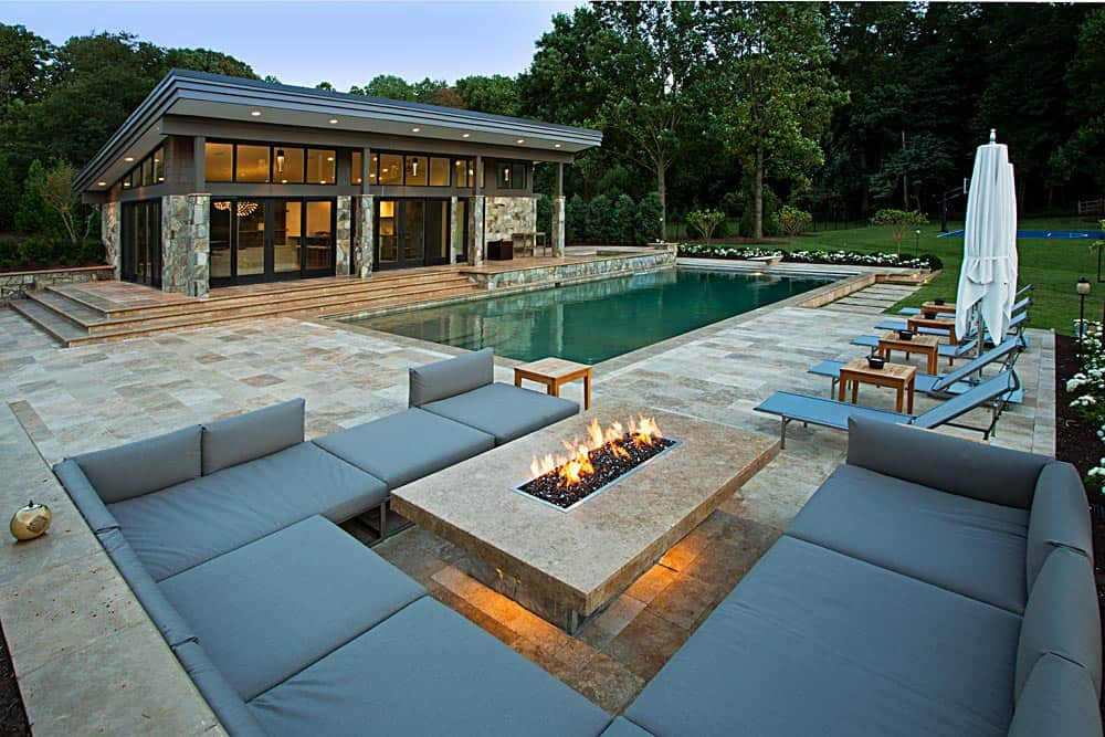 Stone Marble Rectangle Fire Pit