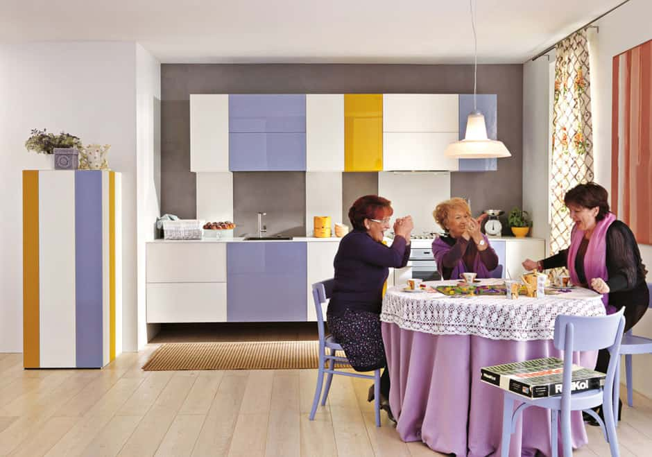 Striped Kitchen Cabinets