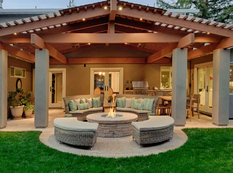 Try this outdoor seating with storage.