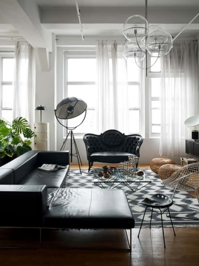 Living Room Design With Black Leather Sofa How To Decorate A Living Room With A Black Leather Sofa  Decoholic Goodly Set