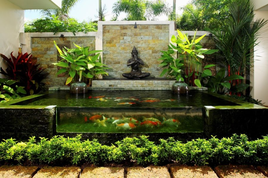 20 koi ponds that will add a bit of magic to your home for Contemporary koi pond design