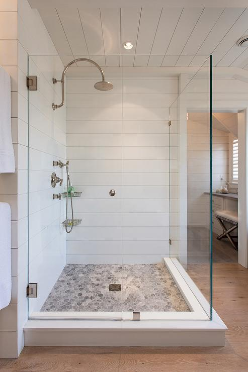 bardiglio-marble-hex-floor-waterworks-henry-gooseneck-shower-head