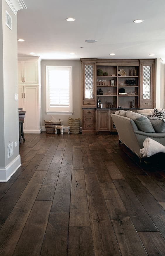 dark rustic hardwood floors