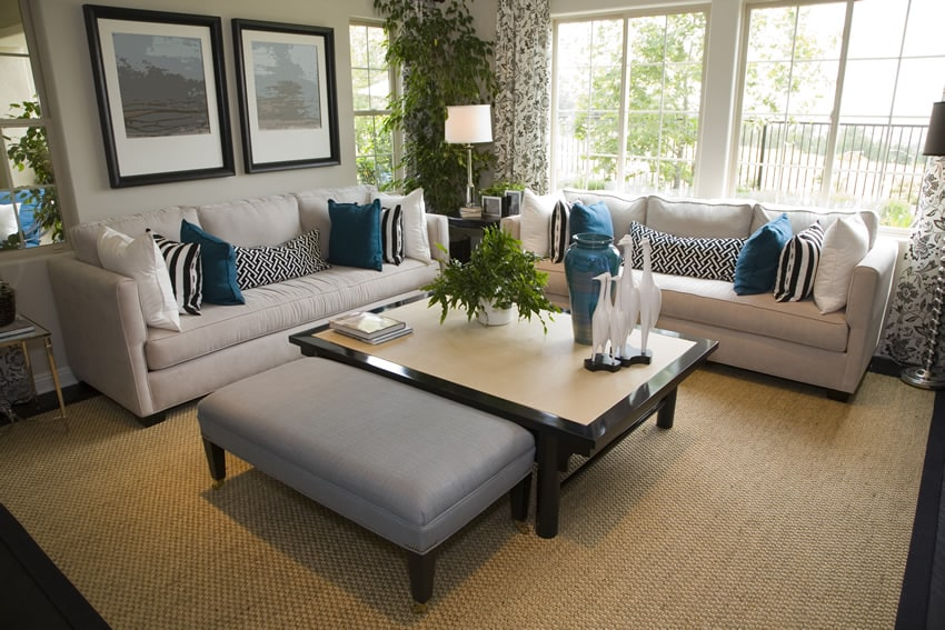 Rooms Decorated In Grey Blue Green
