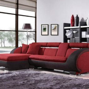 modern red and black sofa design 285x285 Change the Entire Look of Your Living Room with These Modern Sofas