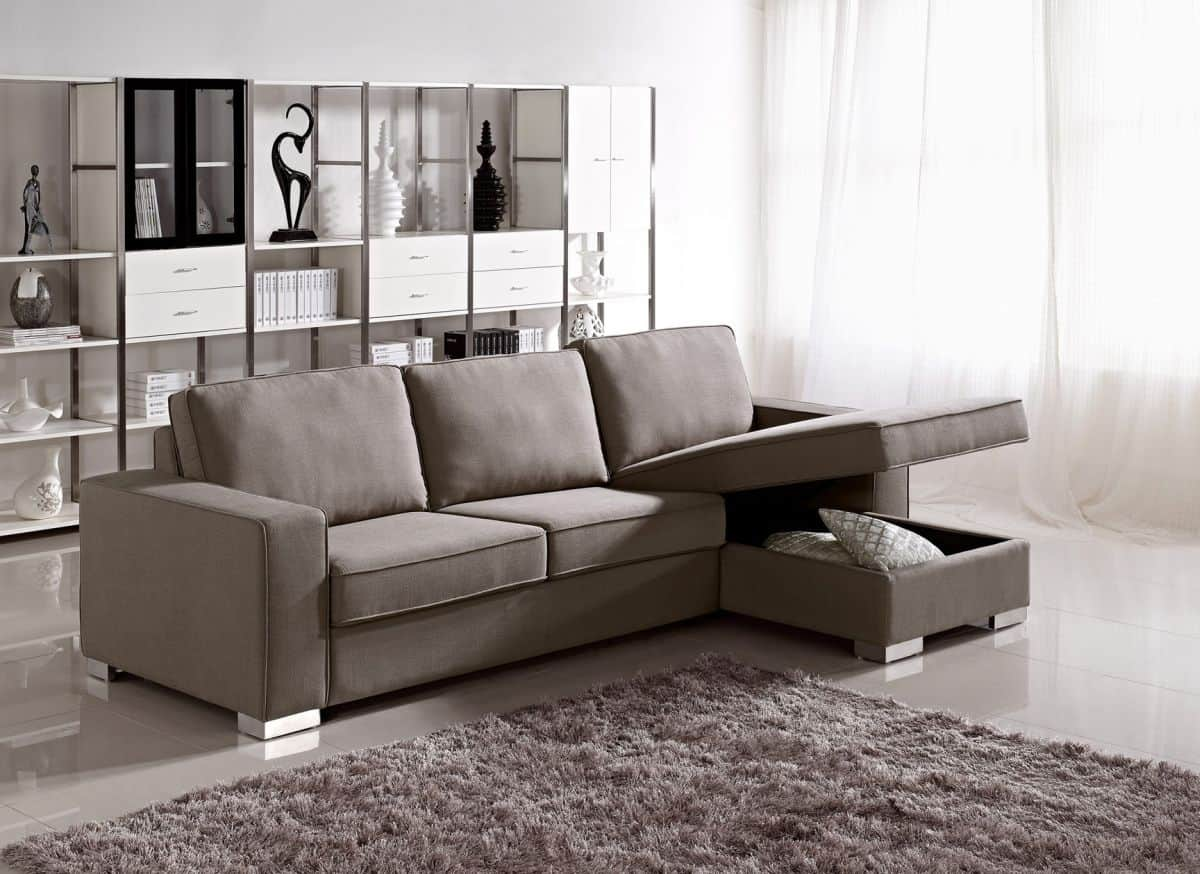 modern sofa has is its capability of having storage space