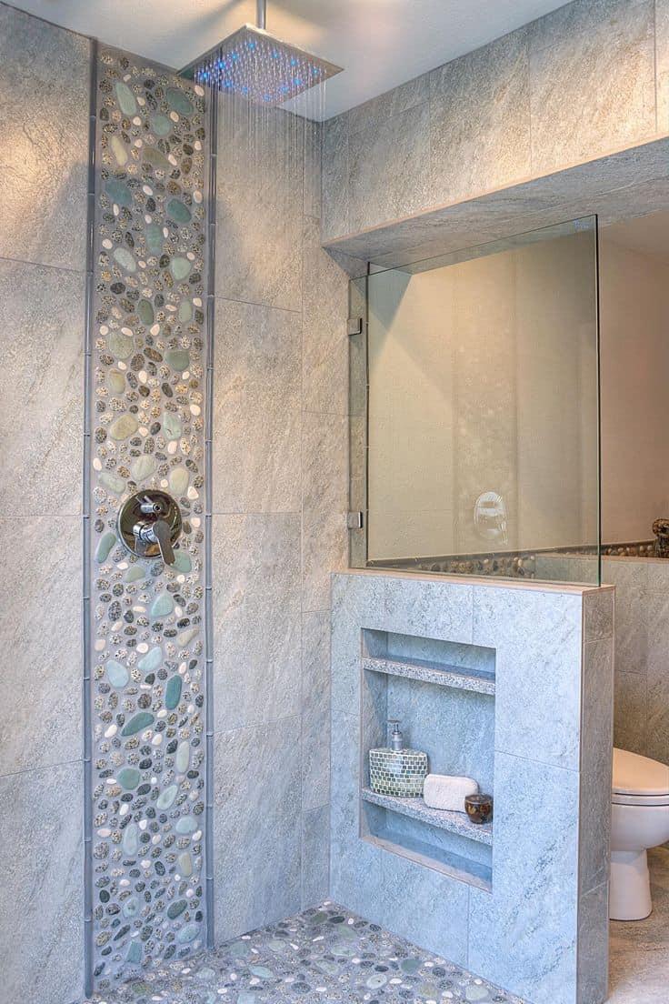 These 20 tile shower ideas will have you planning your for Pictures of bathroom tile designs