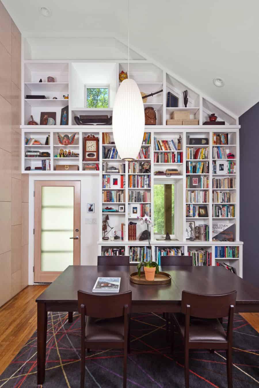 Add a full wall of bookshelves.