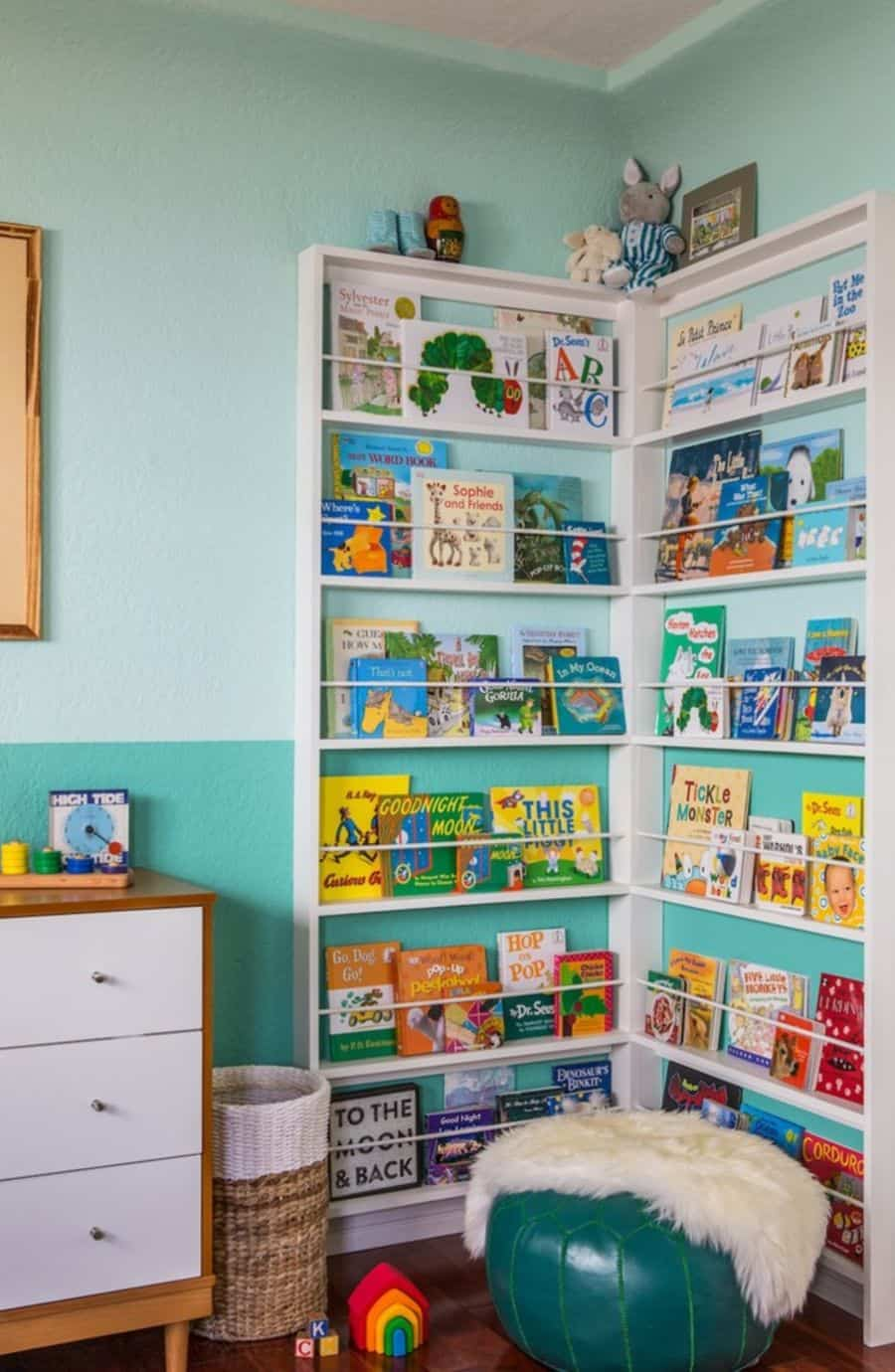 Display kids books for easy reading
